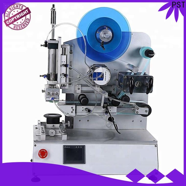 PST semi automatic flat labeling machine company for square bottles