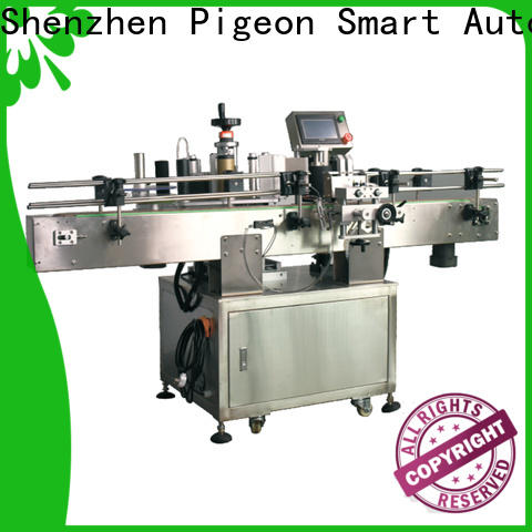PST around automatic label applicator supply for square bottles