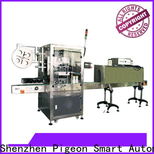 PST top automatic label applicator supply for flat bottles