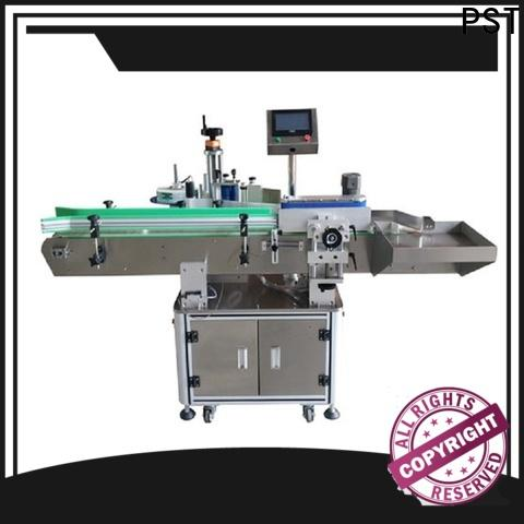 PST automatic round bottle labeling machine with custom service for cosmetics bottles