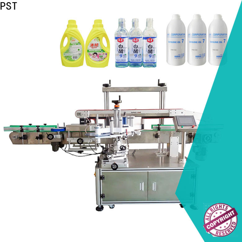 PST antitamper automatic label applicator with label sensor for flat bottles