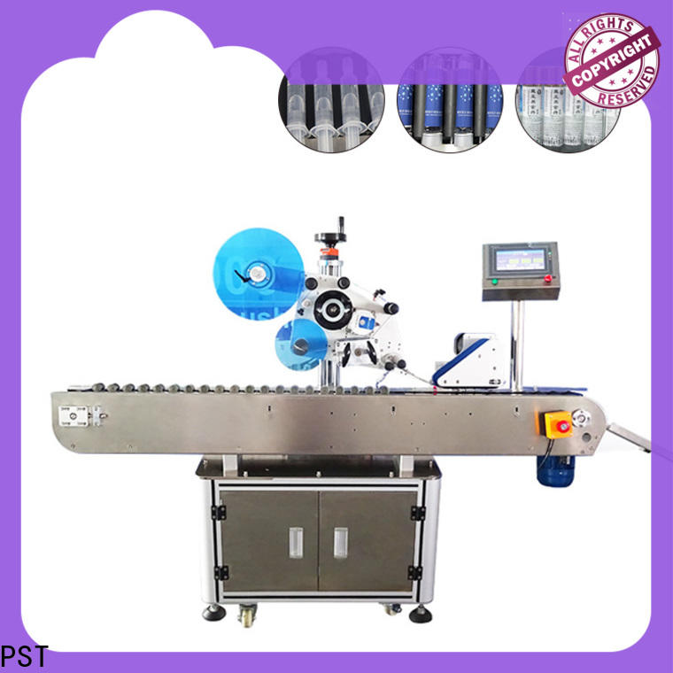 PST double sizes automatic label applicator machine supply for square bottles