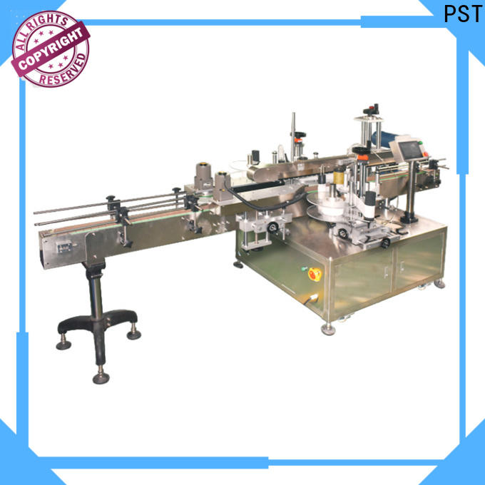PST semi automatic double side labeling machine supplier for boxes