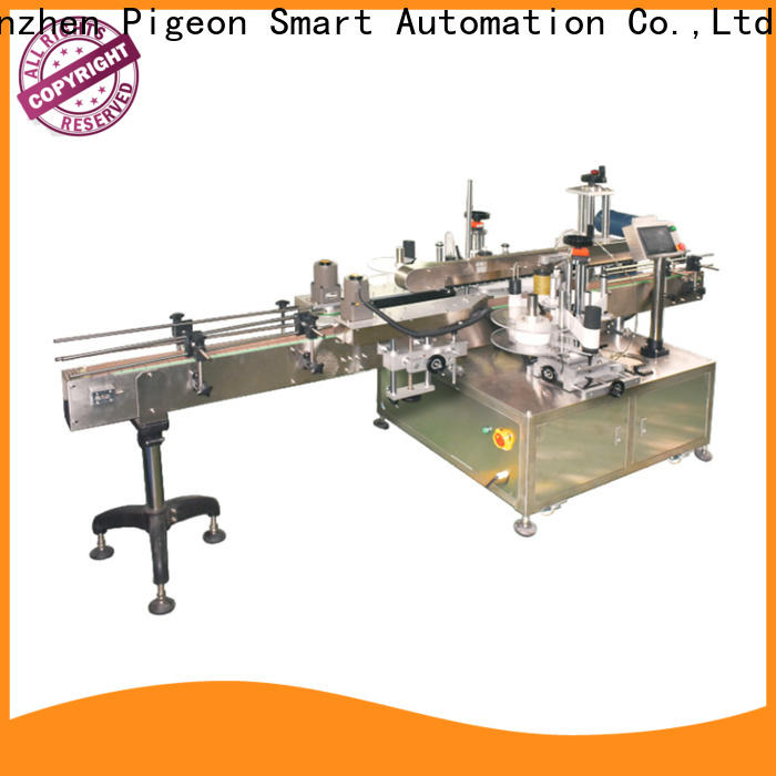 PST double side sticker labeling machine factory for flat bottles