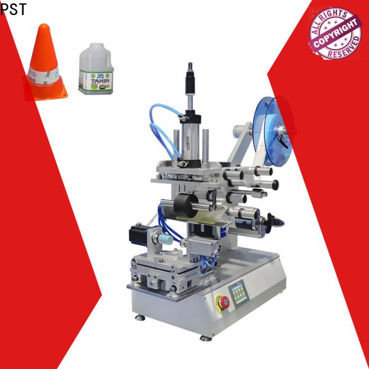 PST flat labeling machine manufacturer for round bottles