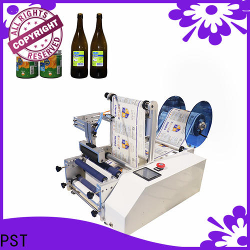 PST semi automatic bottle labeling machine supplier for round bottles