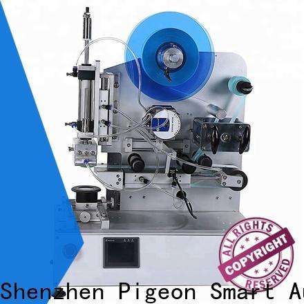 custom semi automatic flat labeling machine company for box corner