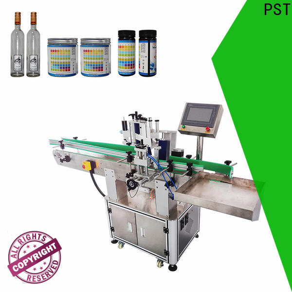 semi automatic label applicator machines design for flat bottles