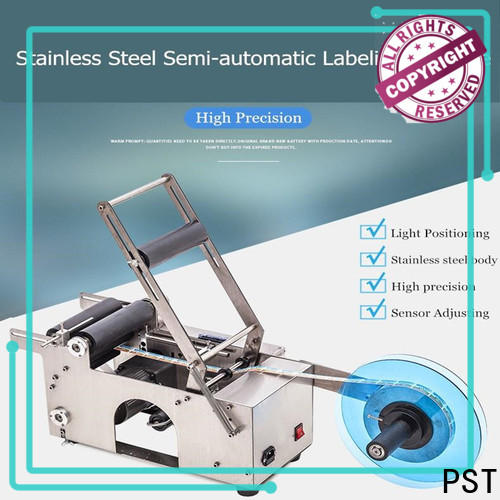 PST label machine for busniess for round bottles