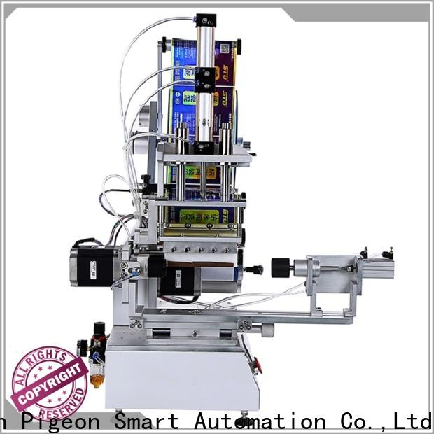 PST professional flat labeling machine company for round bottles