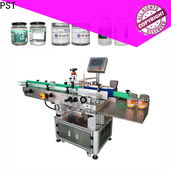 fully automatic label applicator shrink labeling equipment for flat bottles