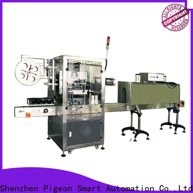 PST wrap automatic label applicator company for flat bottles