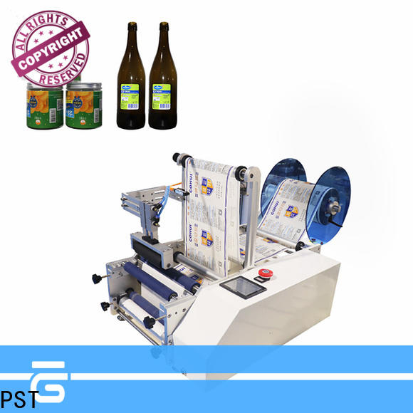 PST semi automatic bottle labeler supplier for round bottles