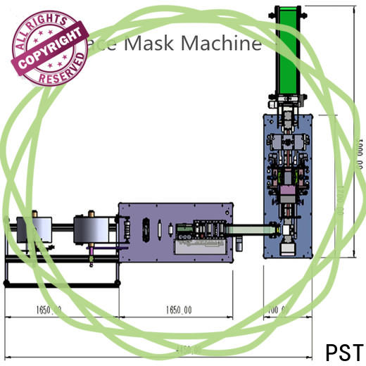 PST new flat disposal face mask machine factory for medical usage