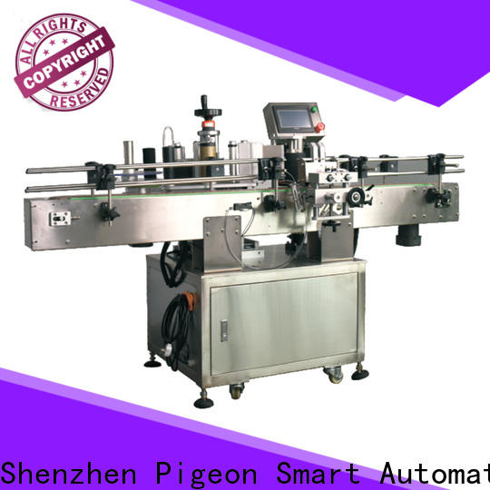 conveyor type automatic label applicator shrink labeling equipment for square bottles
