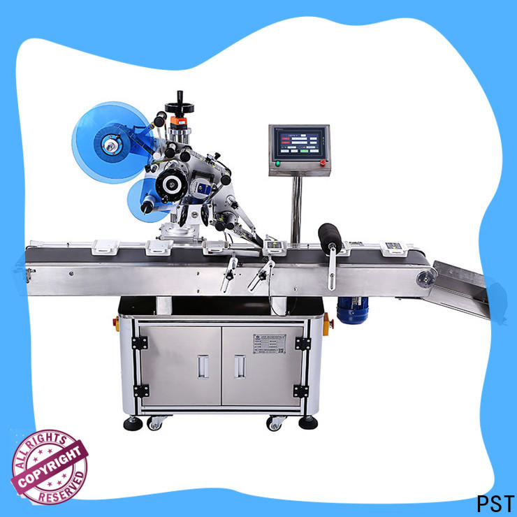 PST fully automatic automatic flat labeling machine factory for bags