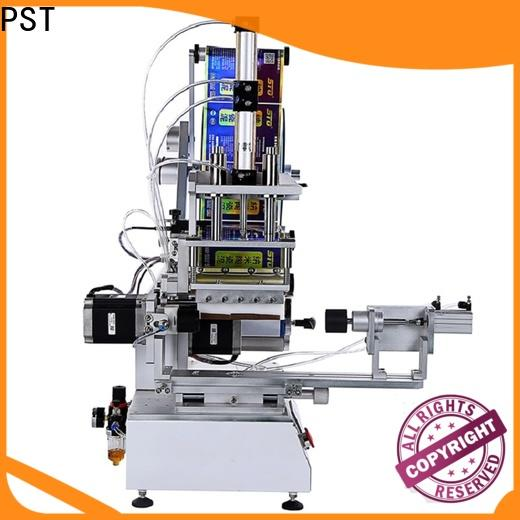 PST flat labeling machine supplier for round bottles