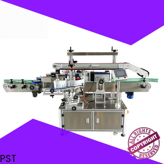 PST custom double side sticker labeling machine factory for round bottles