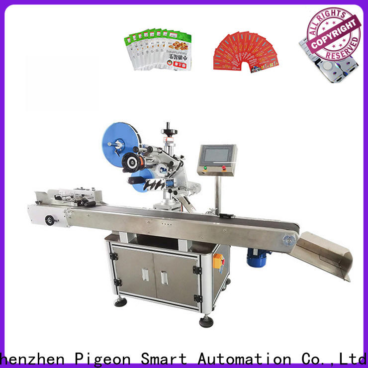 PST smart system semi automatic labeling machine with label sensor for round bottles