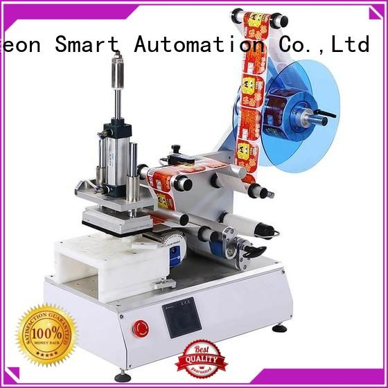 PST around automatic label sticking machine efficient for round bottles