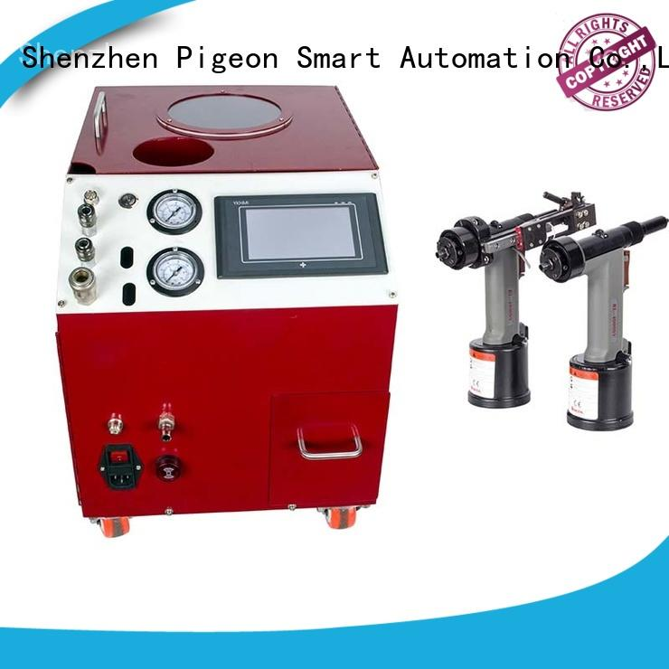PST electric riveting machine error prevention for computer terminal case