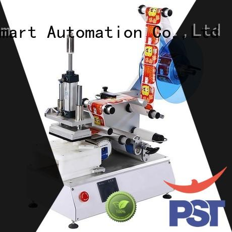 PST semi automatic label applicator machine for bottles customization for square bottles
