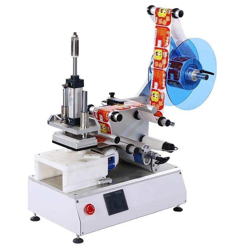 High Speed Labeling Machine For Flat Bottles/Semi-automatic/Box Corner Wrap/Anti-tamper/15-30 Bpm/PST615