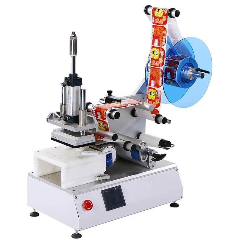 High Speed Labeling Machine For Flat Bottles/Semi-automatic/Box Corner Wrap/Anti-tamper/15-30 Bpm/PST615