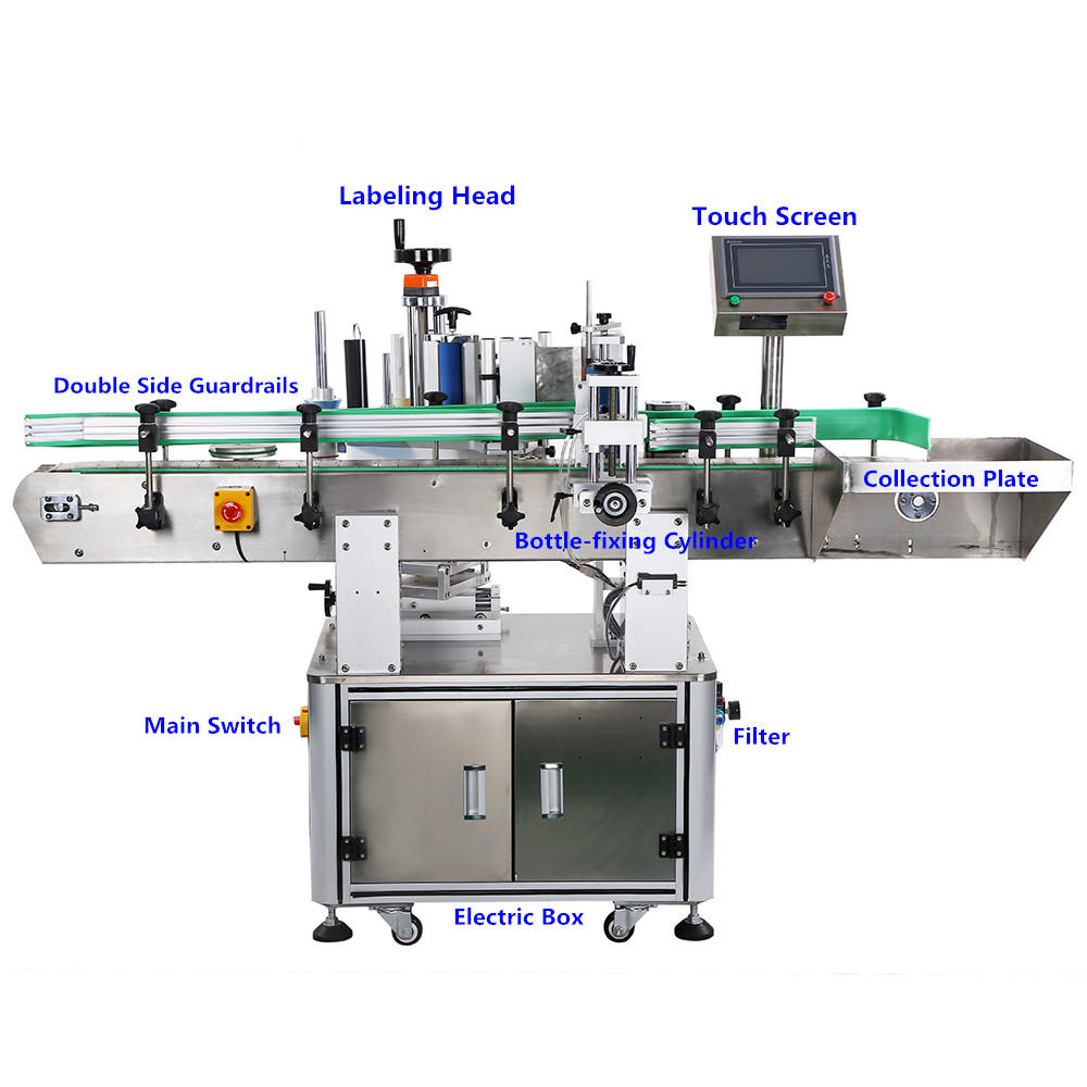 PST custom bottle labeling machine for busniess for round bottle