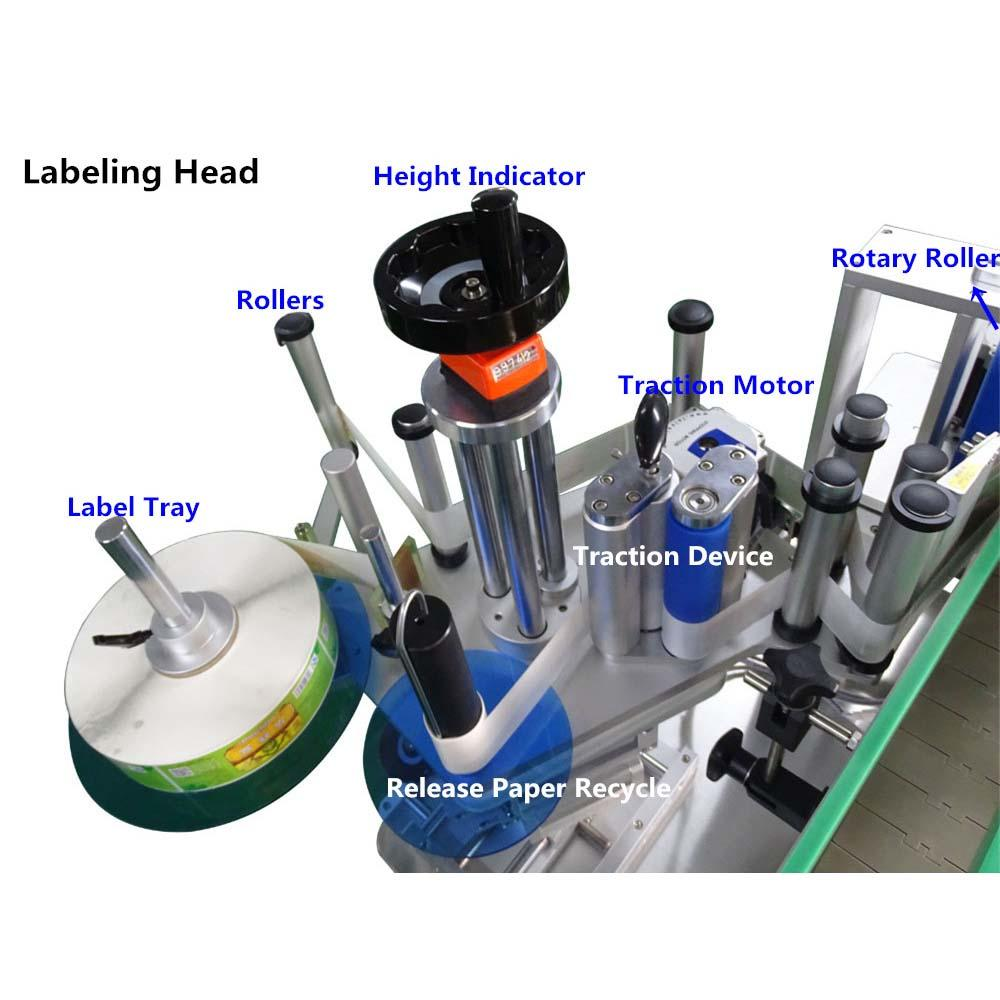 high end automatic label applicator machine bucket for round bottles