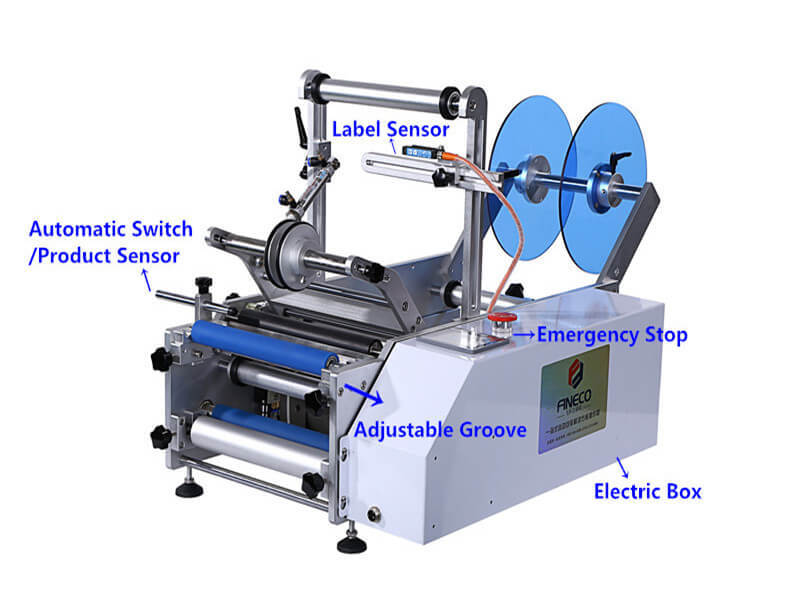 Shrink Labeling Equipment for Round Bottles/semi-automatic/wSrap-around/15-30 Bpm/PST602-1
