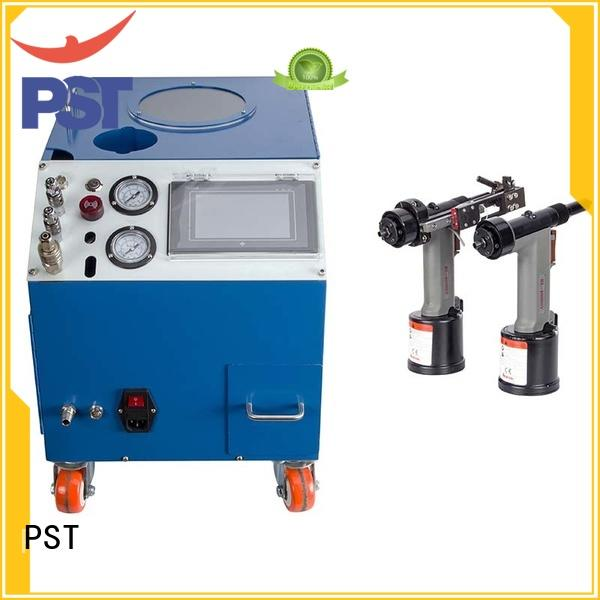 PST silver color automatic riveting machine for computer terminal case