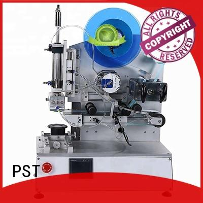 PST best semi automatic flat labeling machine for busniess for round bottles