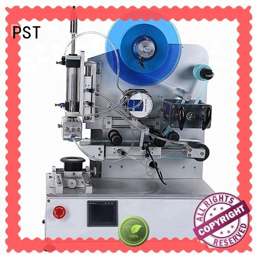 semi automatic label applicator machine with label sensor for round bottles PST