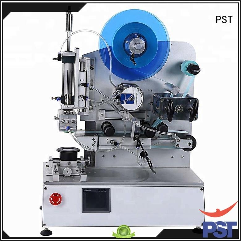 PST superior quality semi automatic flat labeling machine wholesale for square bottles