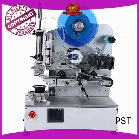 PST semi automatic flat labeling machine with custom service for box corner