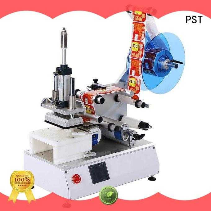 custom semi automatic flat labeling machine fast delivery for round bottles