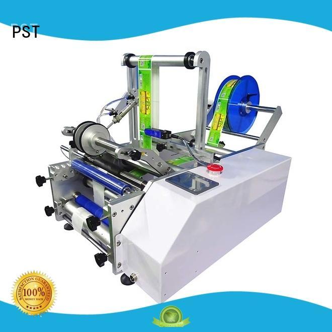 PST automatic label applicator design for square bottles