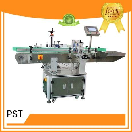 PST smart system semi automatic labeling machine with label sensor for flat bottles