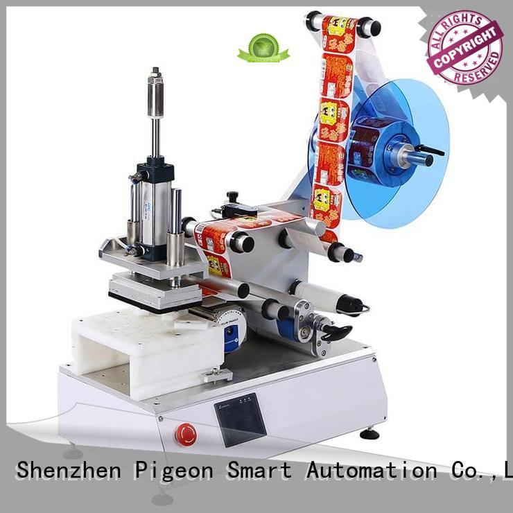 PST top semi automatic flat labeling machine company for box corner