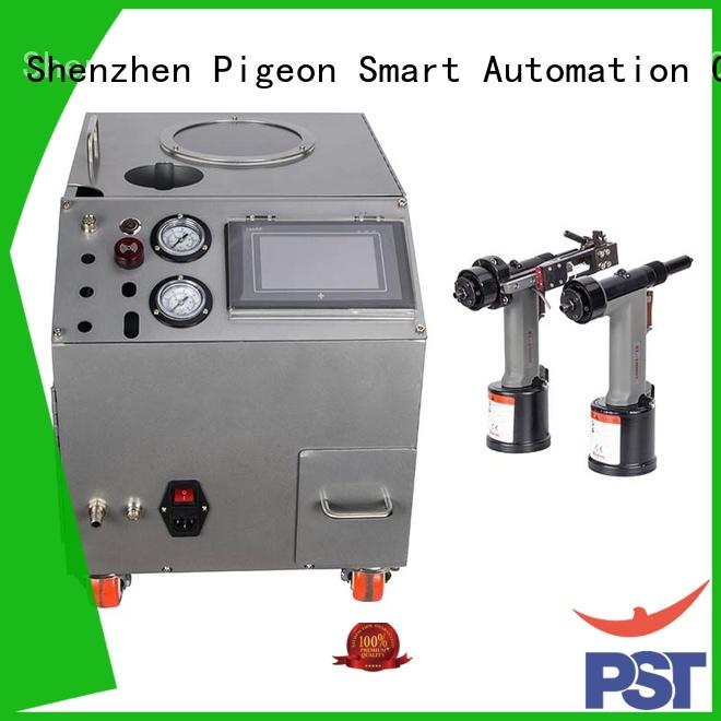 PST silver color rivet machine price for computer terminal case