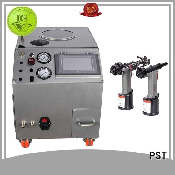 good selling automatic feeding machine for blind rivets with pneumatic rivet guns for computer terminal case PST