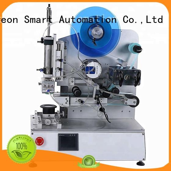 around semi automatic labeling machine sides bottles