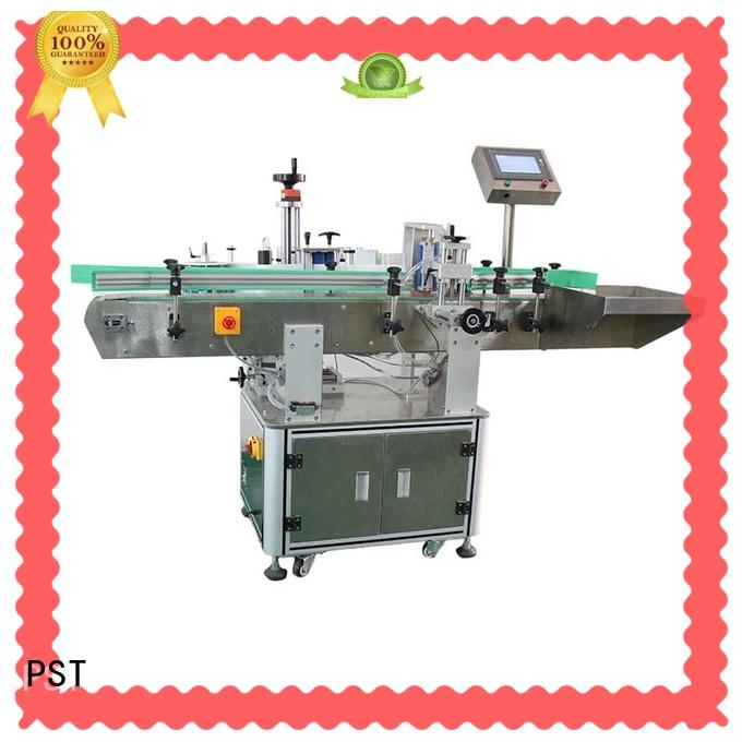 PST excellent automatic labeling machine with label sensor for flat bottles